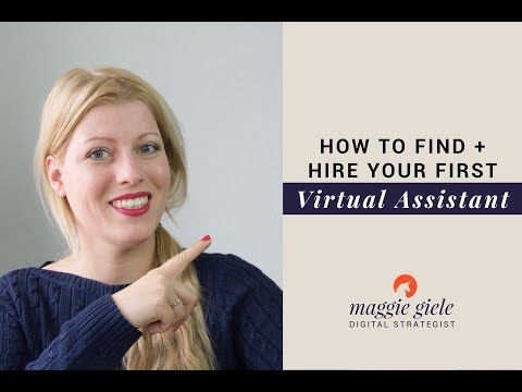 How to Find & Hire Your First Virtual Assistant - Building A Team
