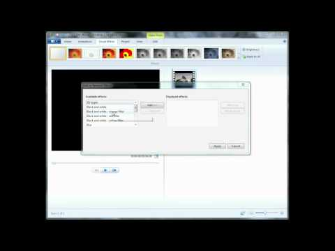 Adding fade-in fade-out effects in Windows Live Movie Maker