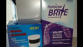 How To Clean Your Retainer Retainer Brite And Sonic Cleaner Beautify