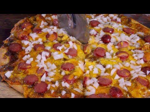 Chili Cheese Dog Pizza