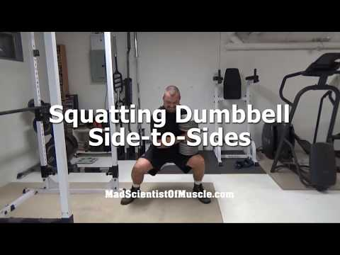 Killer Core Bracing Exercise - Squatting Dumbbell Side-to-Sides