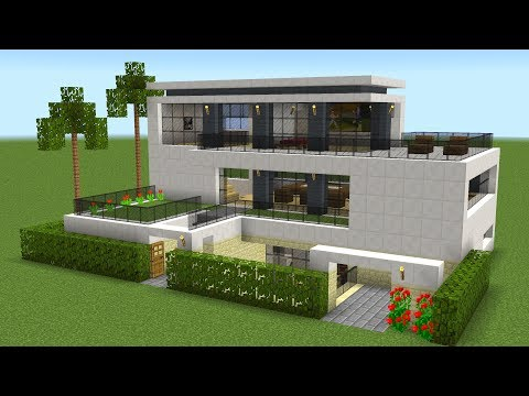 Minecraft - How to build a modern house 19