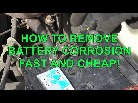 HOW TO REMOVE BATTERY CORROSION FAST AND CHEAP! Car and Truck