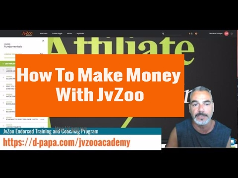 How To Make Money Online With JvZoo as a Seller and Affiliate - JVzoo Academy First Look