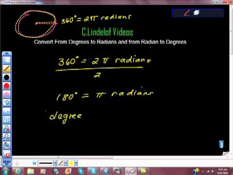 Convert From Degrees to Radians