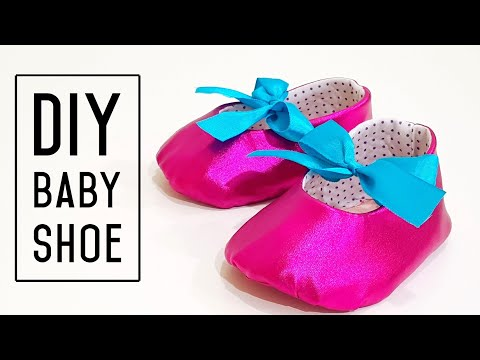 How to make baby shoes from old clothes | Recycling project | 旧衣也可以制作美丽可爱的婴儿鞋 ❤❤