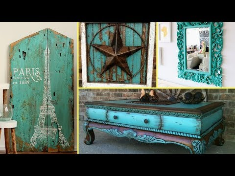 ❤ DIY Shabby Chic Distressed turquoise Old furniture decor Ideas | Home decor| Flamingo mango|❤