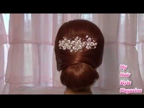 Easy Low bun Wedding Hairstyle for long medium hair tutorial updo