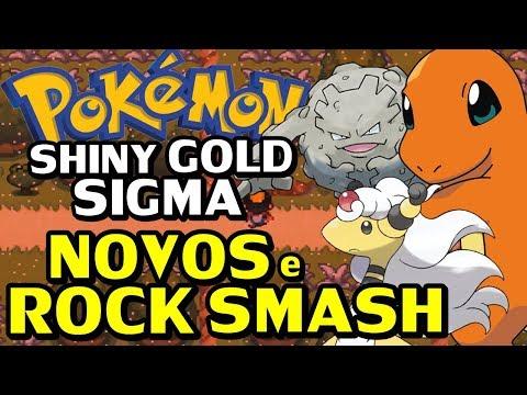Pokémon Shiny Gold Sigma (Detonado - Parte 18) - Charmander, Graveler e Rock Smash