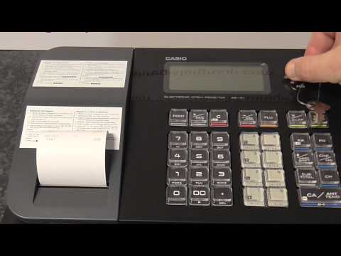 CASIO SE-G1 SEG1 How to set the VAT Tax rate and when to use it tutorial