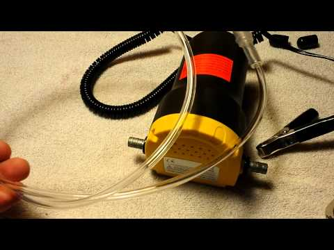 12 Volt 5 Amp Oil Transfer Pump Unboxing, Test, And Review