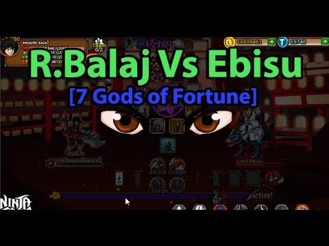 Ninja Saga - 6th Anniversary: R.Balaj Vs Ebisu  [7 Gods of Fortune] 2015