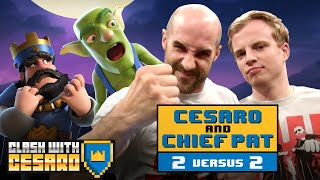 CESARO & CHIEF PAT go to war in 2v2 CLASH BATTLES! - Clash With Cesaro