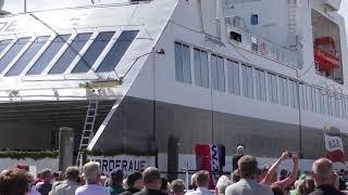 """2018-06-08 Wyk Auf Föhr Taufe Der Neuen Fähre """" Norderaue """" ( In 4 K )"""