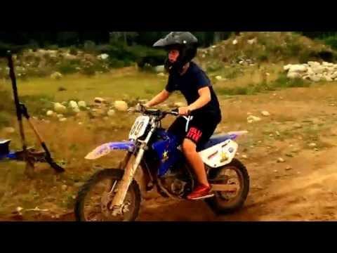 Homemade dirt bike jump !