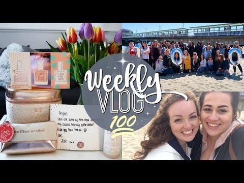 WEEKLY VLOG #100 | BOURNEMOUTH BEACH MEET UP! ♡ | Brogan Tate
