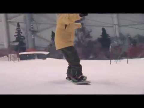 Como frenar con la tabla de  snowboard. Tutorial de snowboard