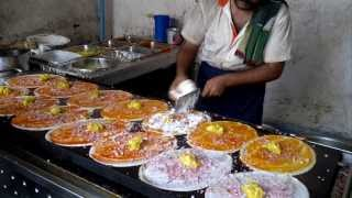 Dosa King - 14 Dosas in 5 Minutes : How to make Dosa ?  Indian street food
