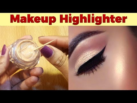 DIY Makeup Highlighter Cream at Home Easy Tutorial with Zainab Numan Urdu Hindi
