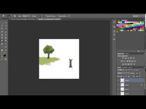 How to make a tree in Photoshop cs6 - Tutorial 1
