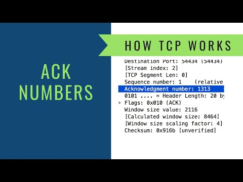 How TCP Works - Acknowledgment Numbers