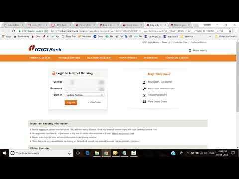 Aadhaar Card  ICICI Bank Account Linking online in Tamil