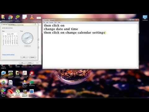 How to change system time to 12 hour format in windows 7
