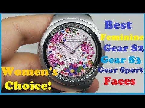Best Feminine watch faces for Samsung Gear S2 / Gear S3 / Gear Sport Smart watch - Women's choice!