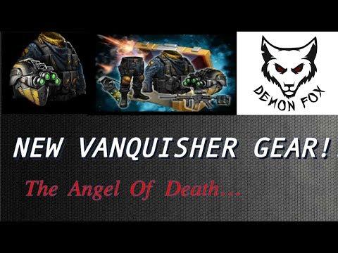 Mobile Strike - Vanquisher Gear Set - The Blue Angel Of Death! - 10+ Billion Attack!