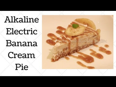 Banana Cream Pie Dr. Sebi Alkaline Electric Recipe