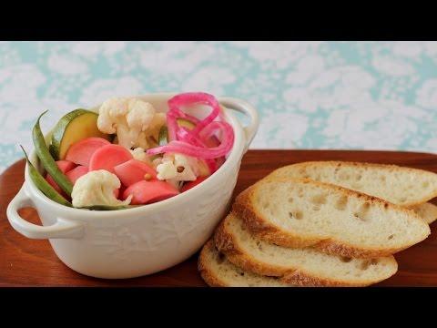 12-Hour Pickles (zucchini, radishes, cauliflower, green beans)