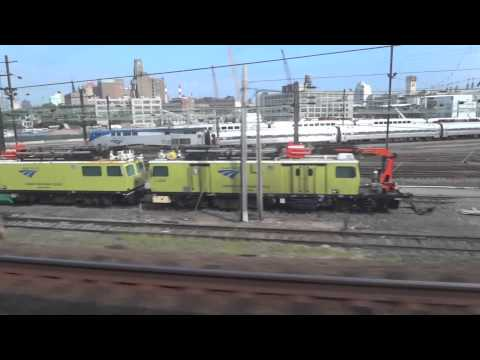 LIRR C3 (Diesel Train) Ride into Penn Station Tunnel, NYC