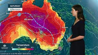 Download WEATHER UPDATE: Heatwave in southern and central Australia, 18 January 2019 Video