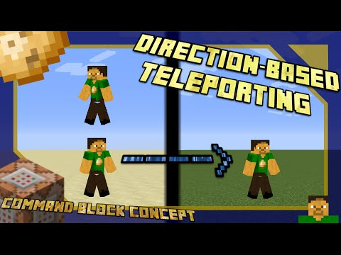Minecraft Command Block Concept | Direction-Based Teleporting Vanilla 1.8+