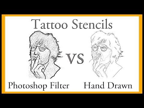 Tattoo Thermal Stencils: Photoshop Filter vs Hand Drawn