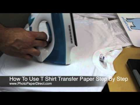 How To Use T Shirt Transfer Paper Step By Step