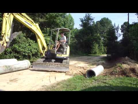 Installing a driveway Culvert
