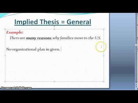 Write a Thesis for a Problem- Solution Essay