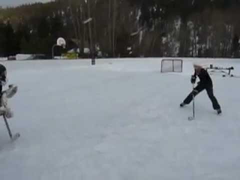 Goalie loses his jock strap on an amazing breakaway dangle