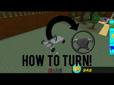 Roblox - Build a Boat for Treasure: HOW TO *TURN/STEER A CAR*