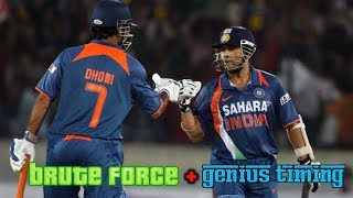 Tendulkar and Dhoni Epic Explosive Onslaught | Classic Combination of Brute Force and Genius Timing!