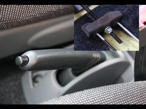 How to adjust handbrake - Aygo, Citroen C1, Peugeot 107 - ręczny, regulacja ręcznego