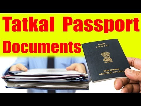 Tatkal Passport Documents Required