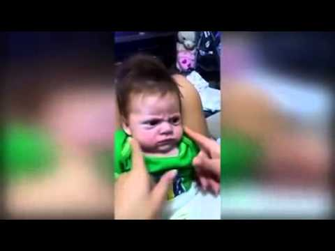 Move OVER Grumpy Cat!!! VERY grumpy baby refuses to stop scowling