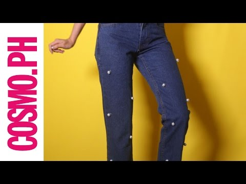 DIY Fashion: Pearl Embellished Jeans