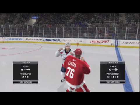NHL 11: Minor Fight Glitch? Subban's White Hand's (HD)