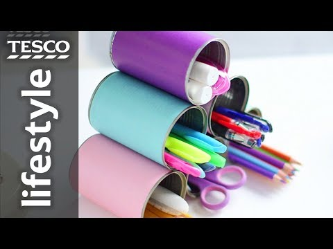 How to make a storage unit with tin cans | Tesco