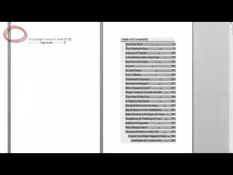 Make Table of Contents in Word 2010 That's Clickable in Kindle