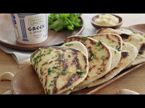 Greek Style Yogurt Flatbread - 酸奶大蒜饼