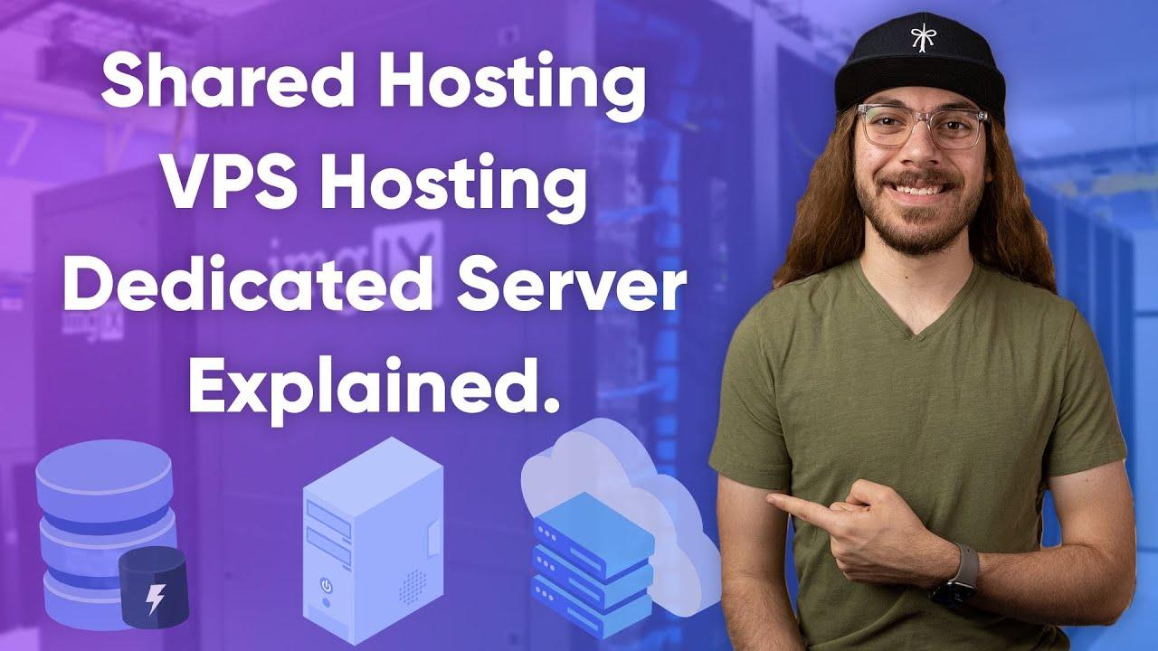 Different Types of Web Hosting Explained! | Shared Hosting vs. VPS Hosting vs. Dedicated Server